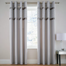 Catherine Lansfield Sequin Cluster Pair of Eyelet Lined Curtains
