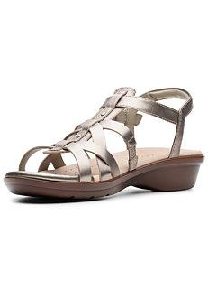 76ebb9fd700 Clarks Loomis Katey Multi Strap Sandals