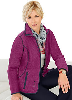 b0c2db06f2e Collection L Contrast Piping Fleece Jacket