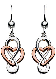 402a7cb38 Heritage 'Cara' Rose Gold Celtic Looped Heart Drop Earrings