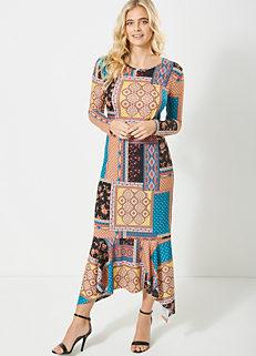 fcdb4f9215d Look Again Scarf Print Maxi Dress