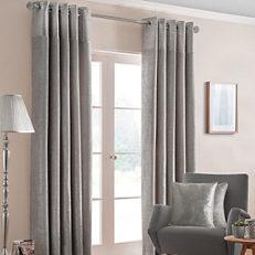 Nova Pair of Eyelet Lined Curtains