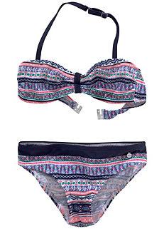 ffd16537c0 s.Oliver Red Label Girls Beachwear Vibrant Striped-Look Bandeau Bikini
