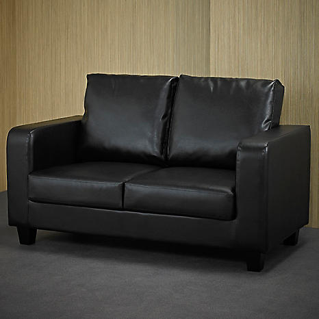 Awesome Black Faux Leather Sofa In A Box Alphanode Cool Chair Designs And Ideas Alphanodeonline