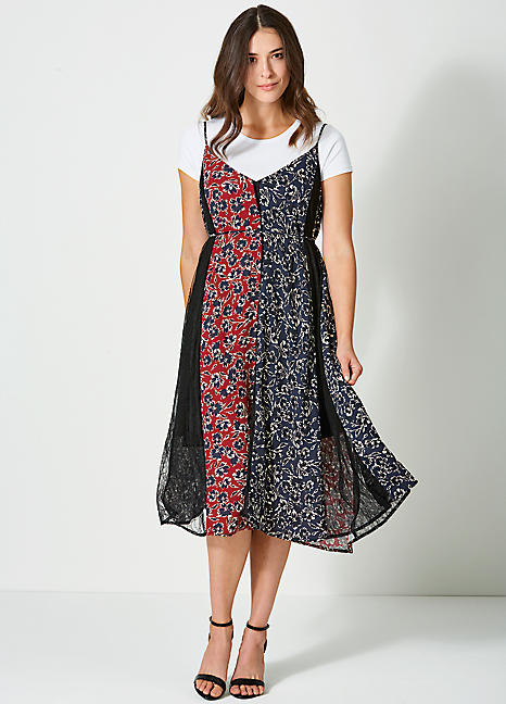 French Connection Lace Panel Dress
