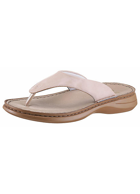 Rieker Leather Toe-Post Sandals | Grattan