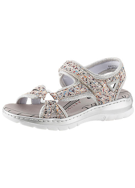 Rieker Velcro Strap Sandals   Grattan